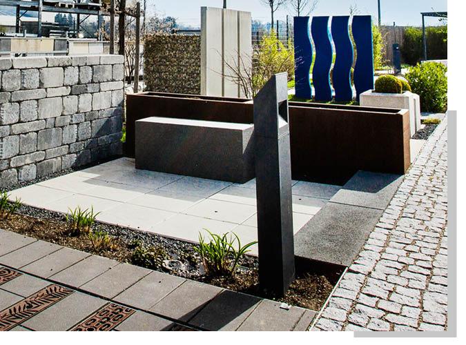 Garten- und Landschaftsbau in der Ausstellung von Schwarz & Sohn