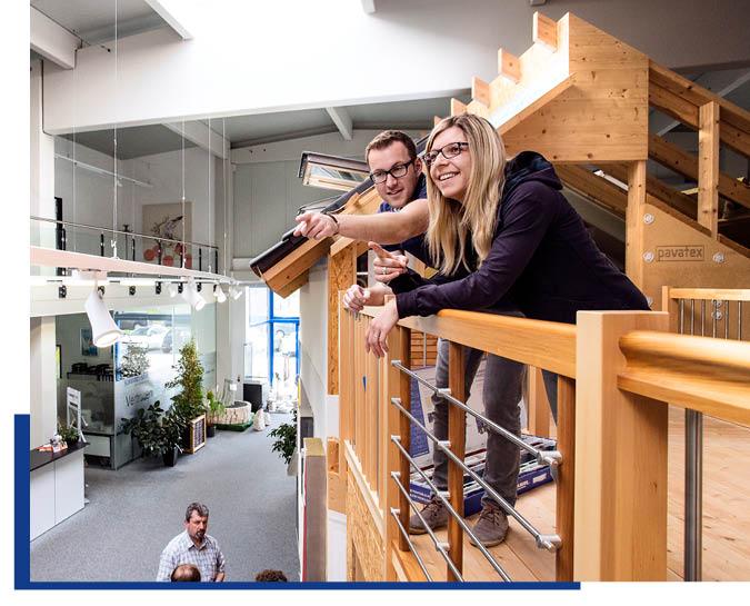 Beratung und Inspiration für private Bauherren in der Ausstellung von Schwarz & Sohn