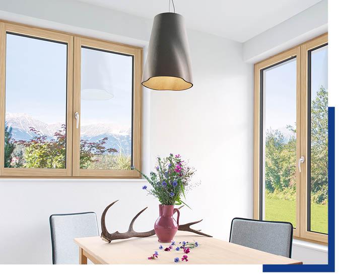 Fenster aus Holz bei Schwarz & Sohn