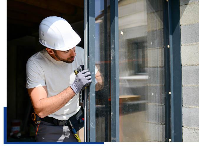 Montage von Fenstern mit eigenen Handwerkern von Schwarz & Sohn