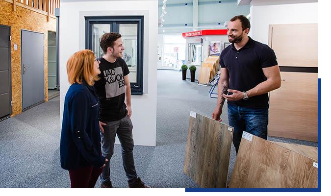 Beratung für private Bauherren in der Ausstellung von Schwarz & Sohn