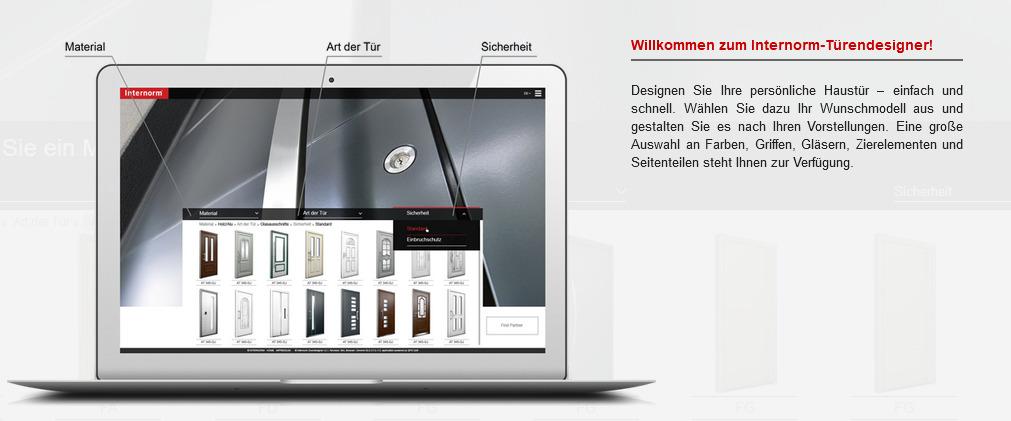 Internorm Türendesigner - klicken Sie hier